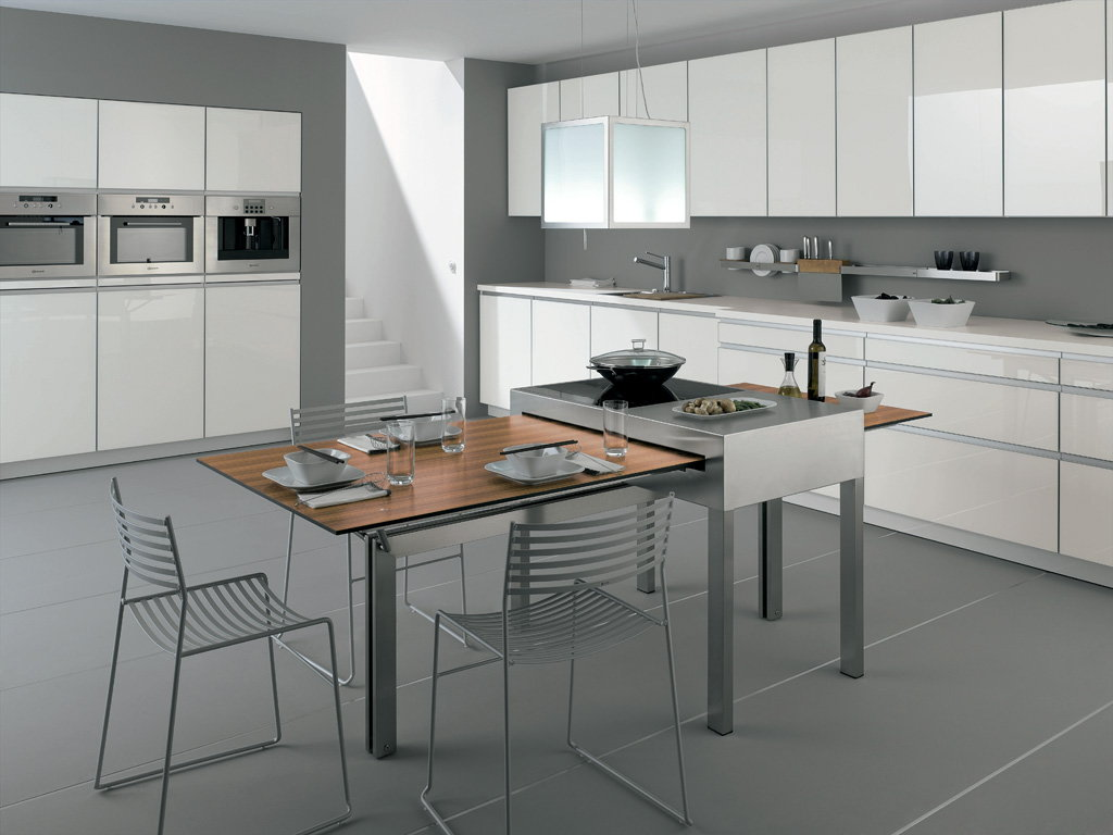 fantasy island the cooking table by alno. Black Bedroom Furniture Sets. Home Design Ideas