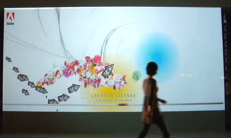 Interactive Wall Mural for Adobe and Goodby