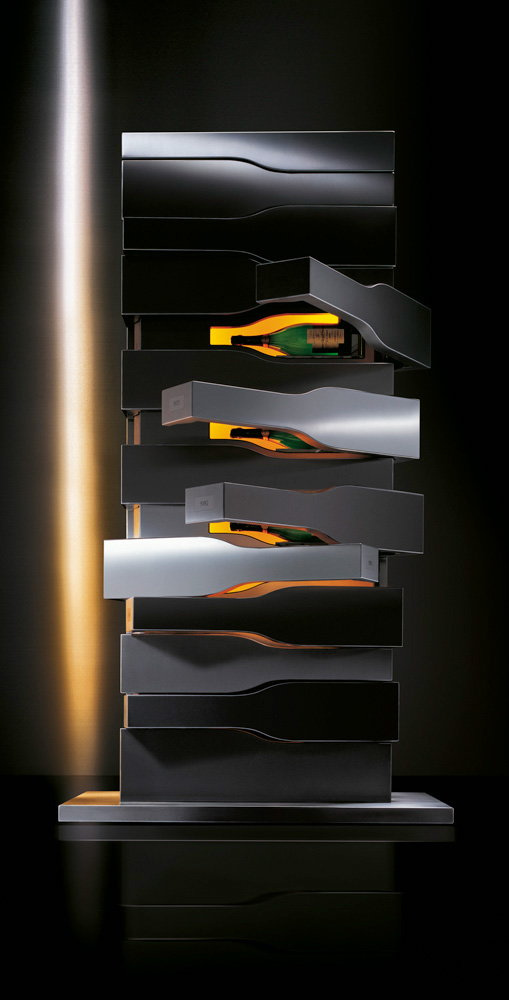 Champagne Free Standing Wine Cellar Vertical Limit for Veuve Clicquot
