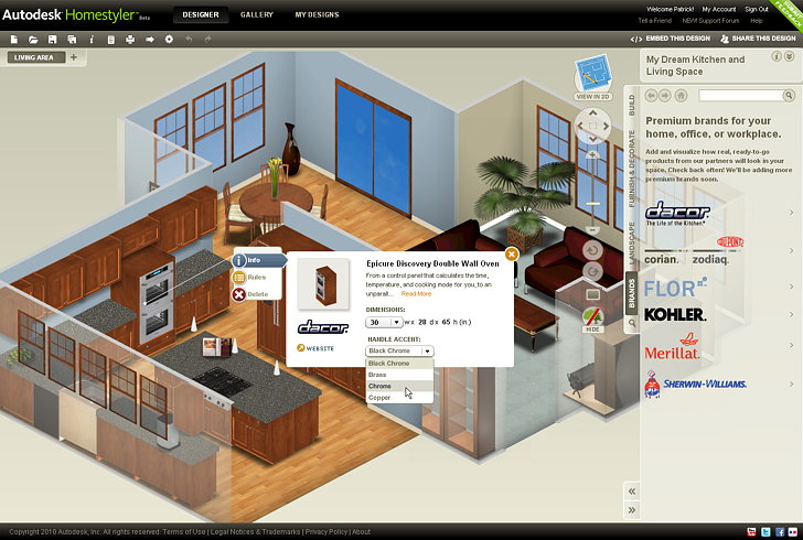 Autodesk homestyler easy to use free 2d and 3d online - Easy home design software online ...