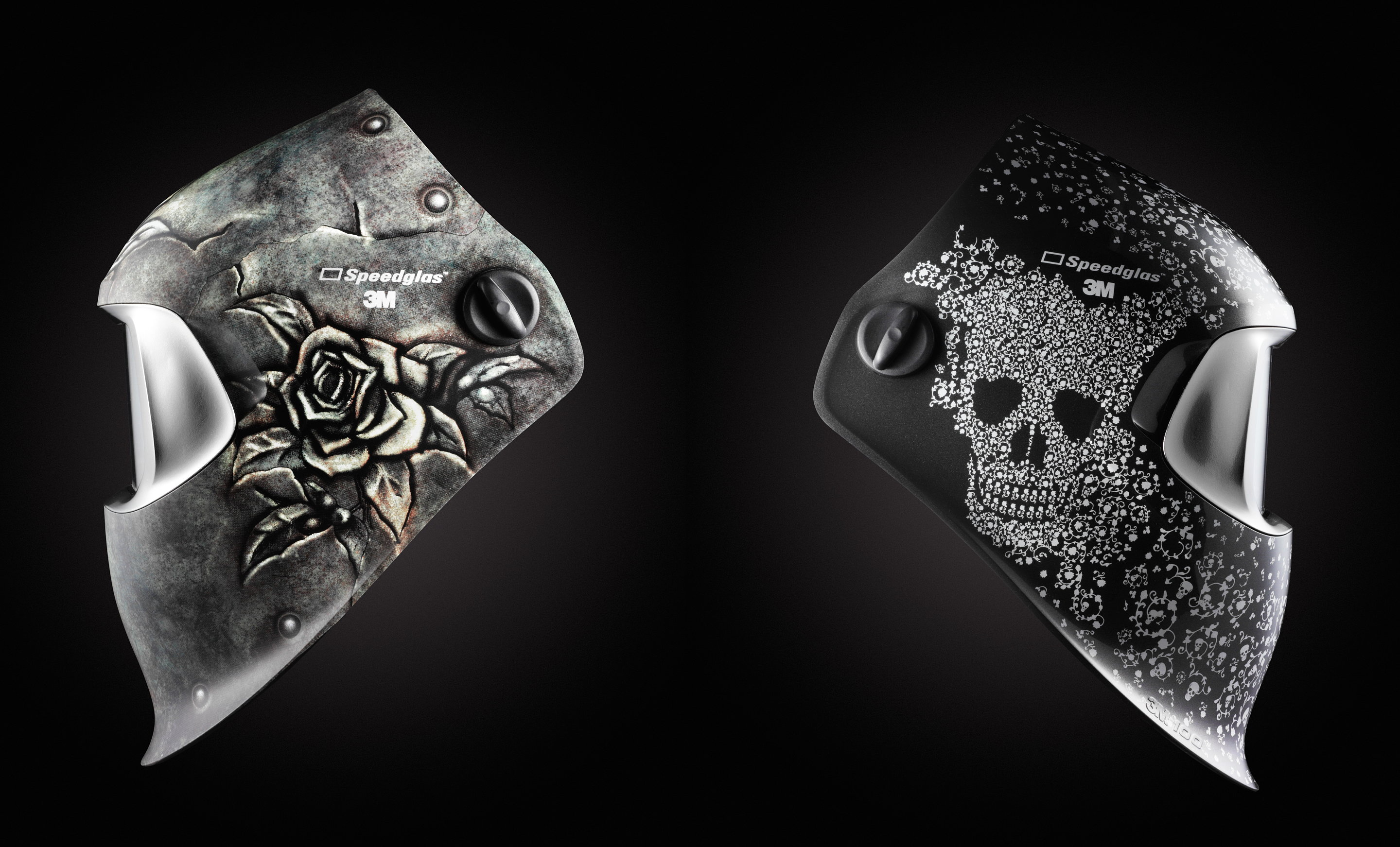 Steel Rose and Skull Jewels