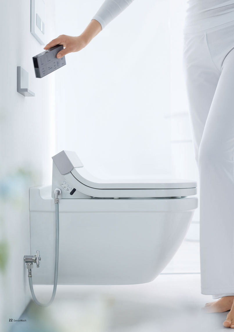 SensoWash Starck: High-Tech Shower Toilet by Duravit