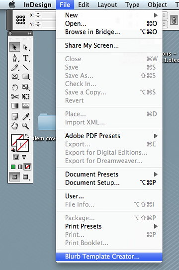 Blurb indesign plug in for Blurb indesign template