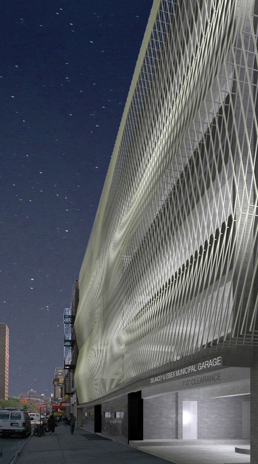 Nyc downtown garage to get innovative cable facade by for Parking garage in nyc