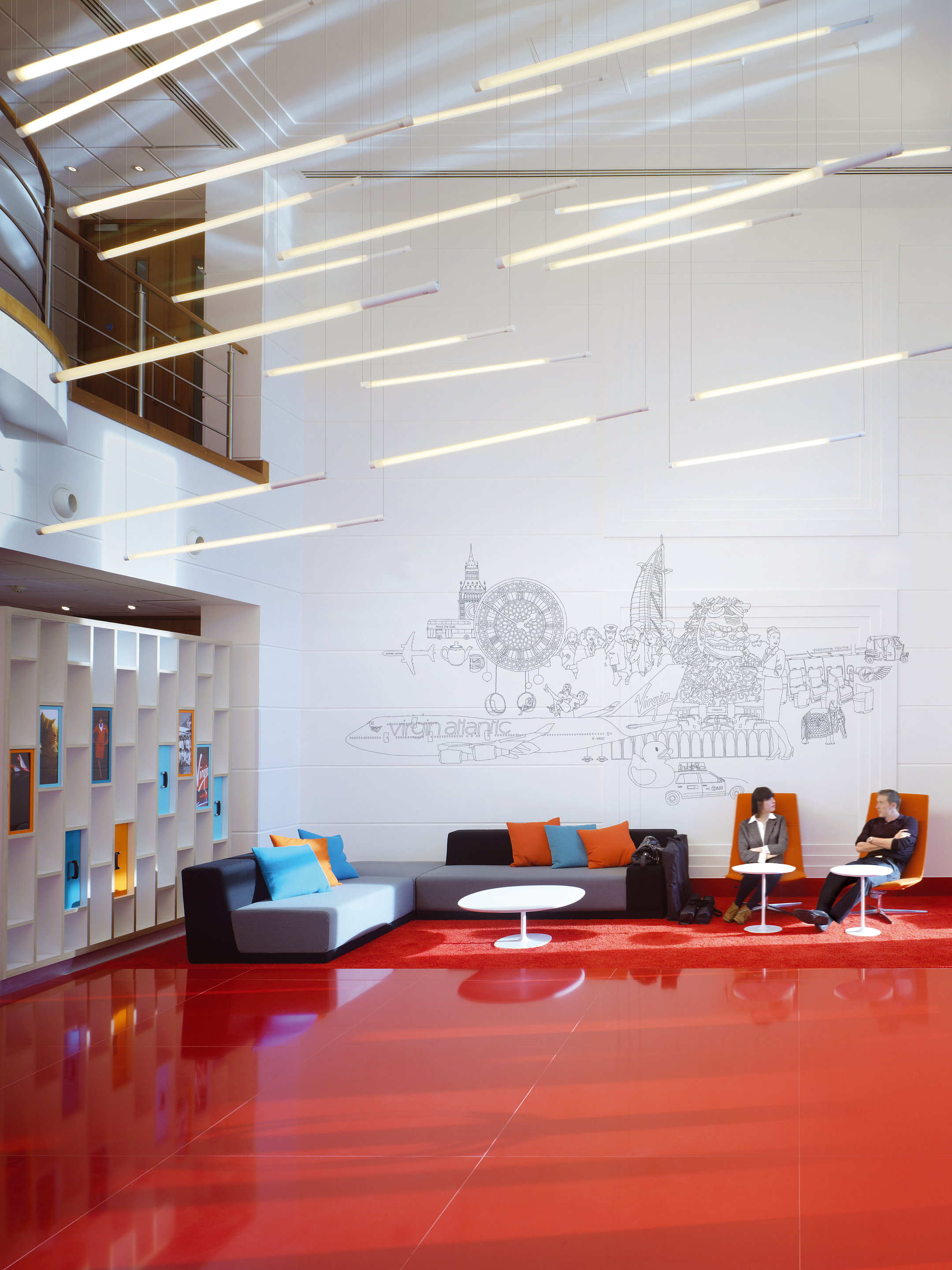New Reception Areas for Virgin Atlantic Global HQ
