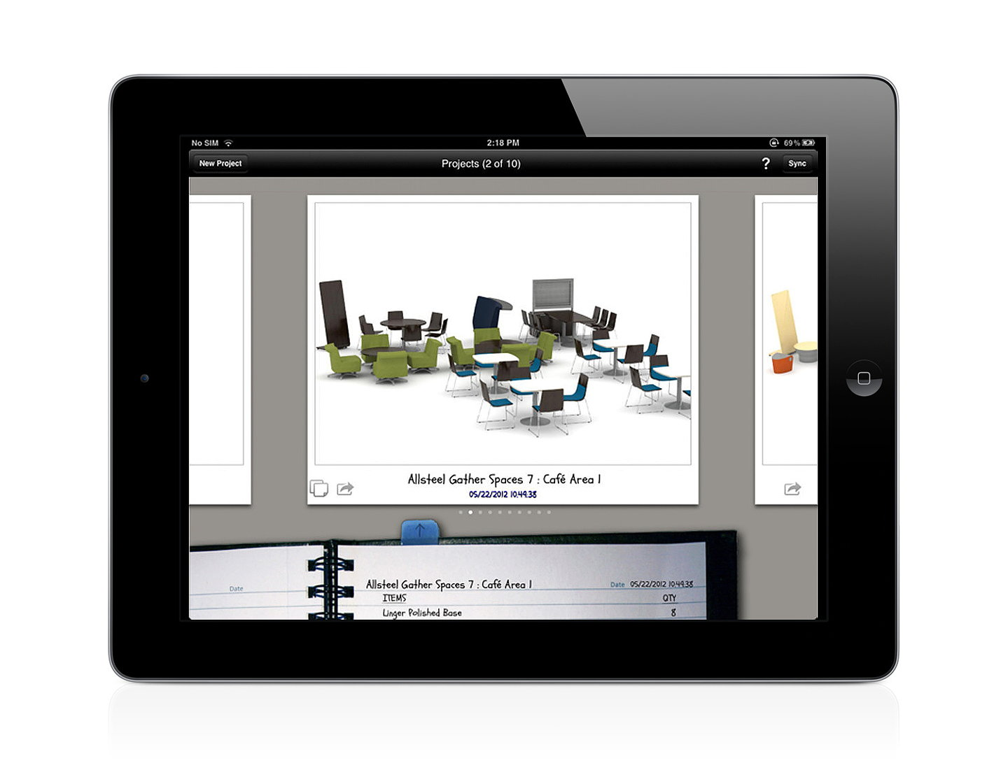 Kits mobile allsteel 39 s new space planning app for Space planning app