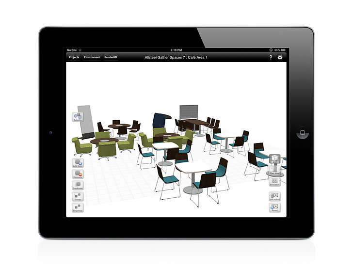 Kits Mobile Allsteel 39 S New Space Planning App