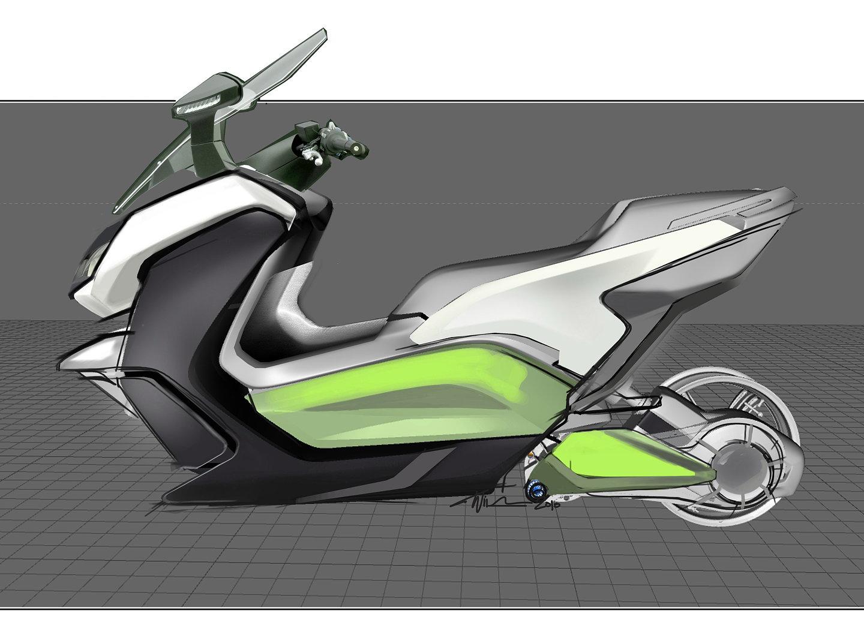 bmw c evolution electric scooter. Black Bedroom Furniture Sets. Home Design Ideas
