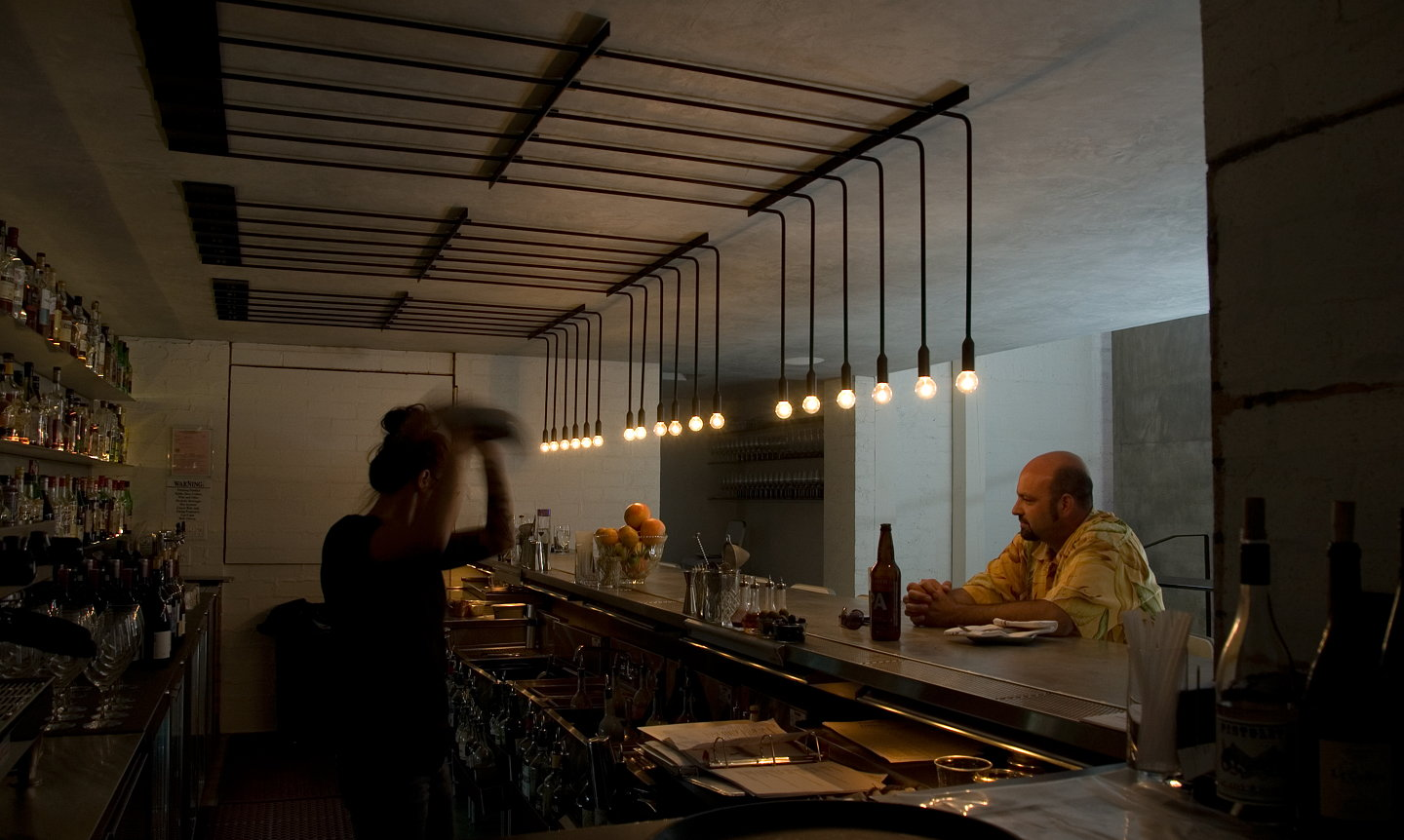 Restaurant Kitchen Lighting pslab designs minimalist lighting solution for workshop kitchen + bar