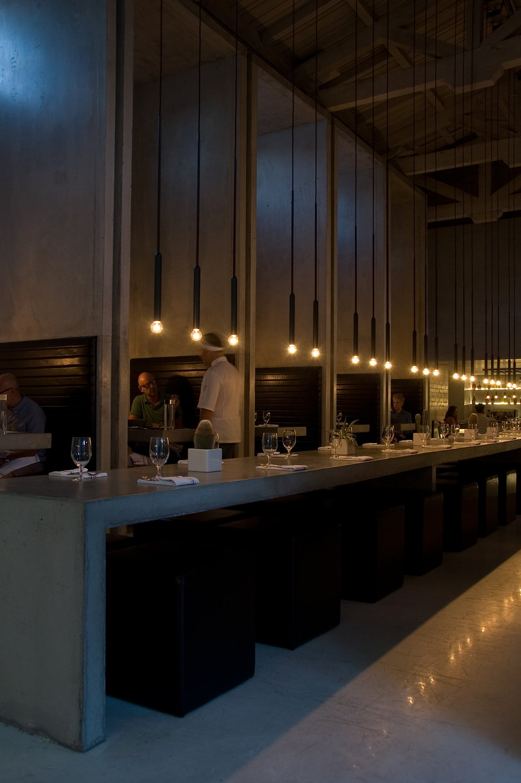 PSLAB Designs Minimalist Lighting Solution for Workshop Kitchen + Bar