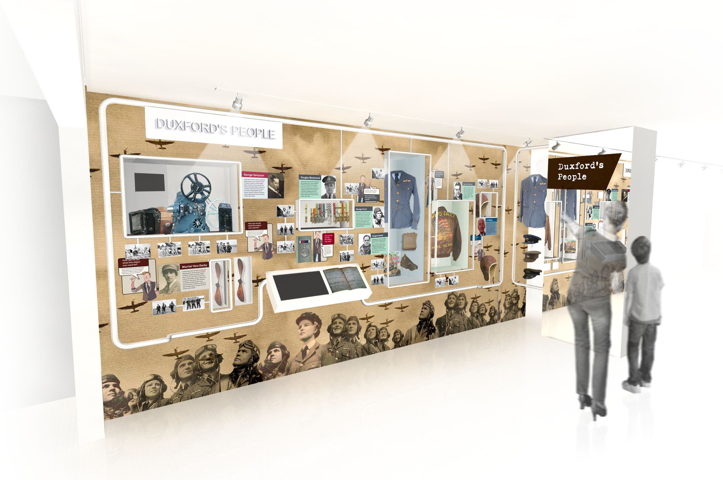 Historic Duxford Exhibition by MET Studio