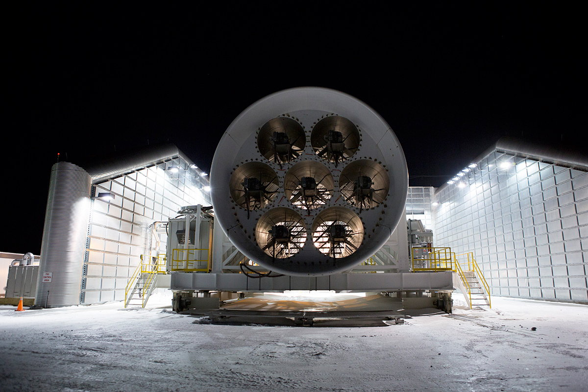 stress testing a 747 engine in sub zero conditions