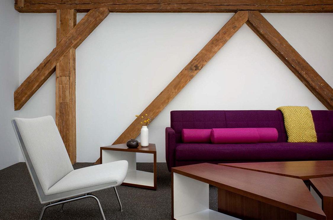Дизайн стен с балками