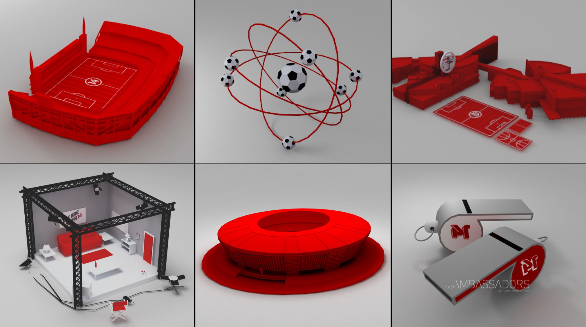 3D Interactive Props for FIFA 2014