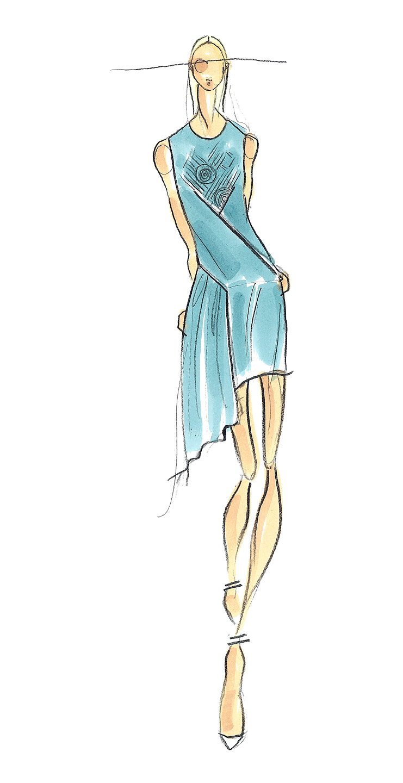Fantastic Wedding Gown Drawings Festooning - All Wedding Dresses ...