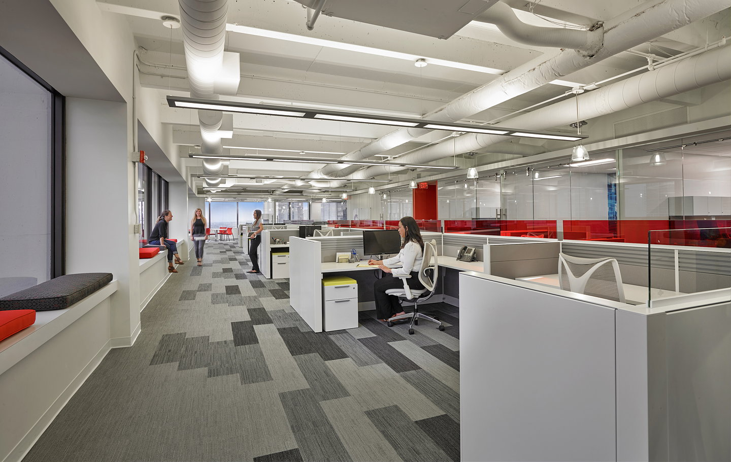 Stantec captures suffolk construction 39 s culture through for Office interior contractor