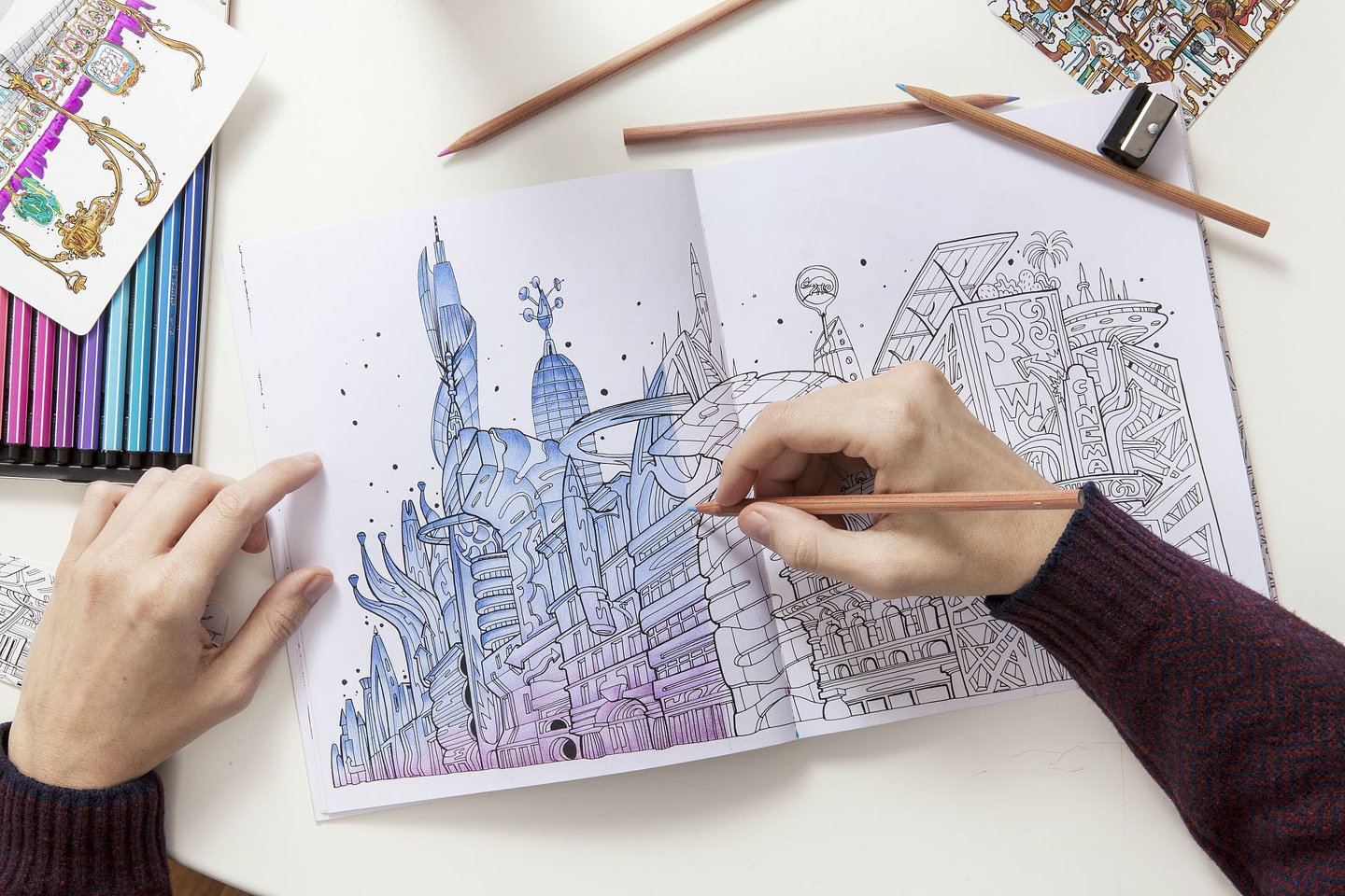 The Wandering City Coloring Book 01