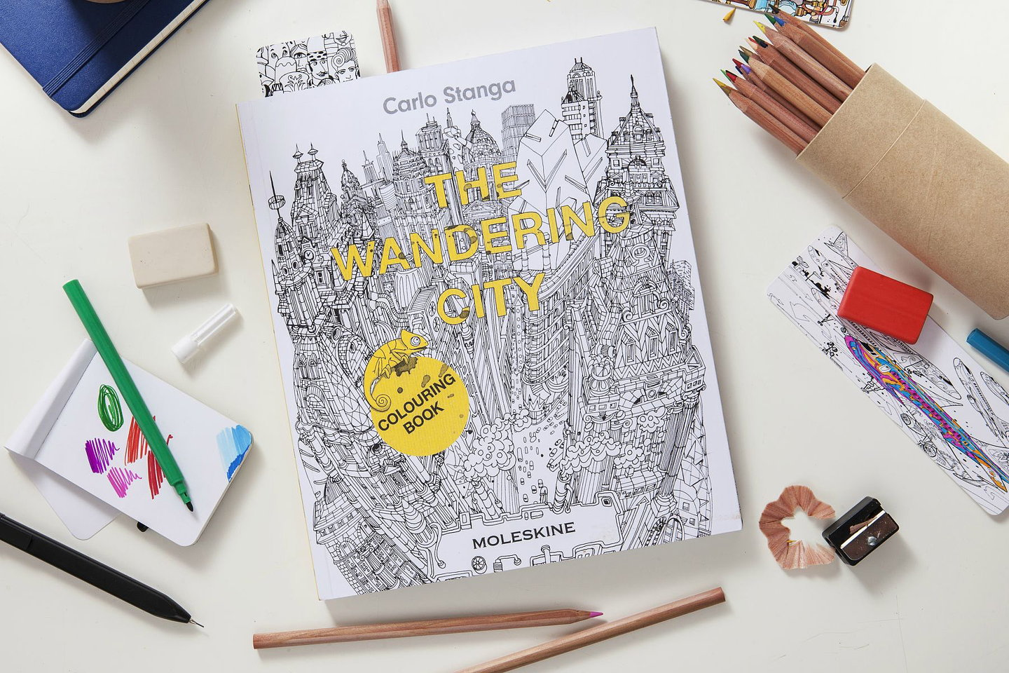 Colouring book for adults singapore -  The Wandering City Coloring Book 05