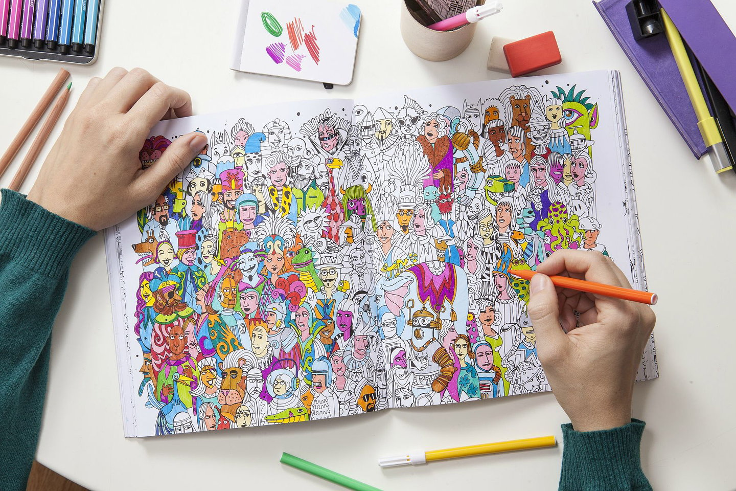 The Wandering City Coloring Book 10