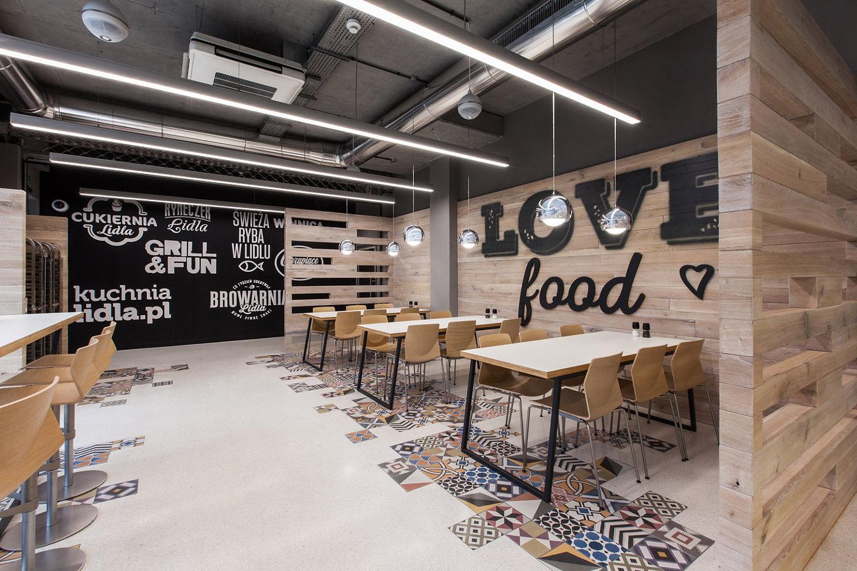 Lidl restaurant by mode lina architekci