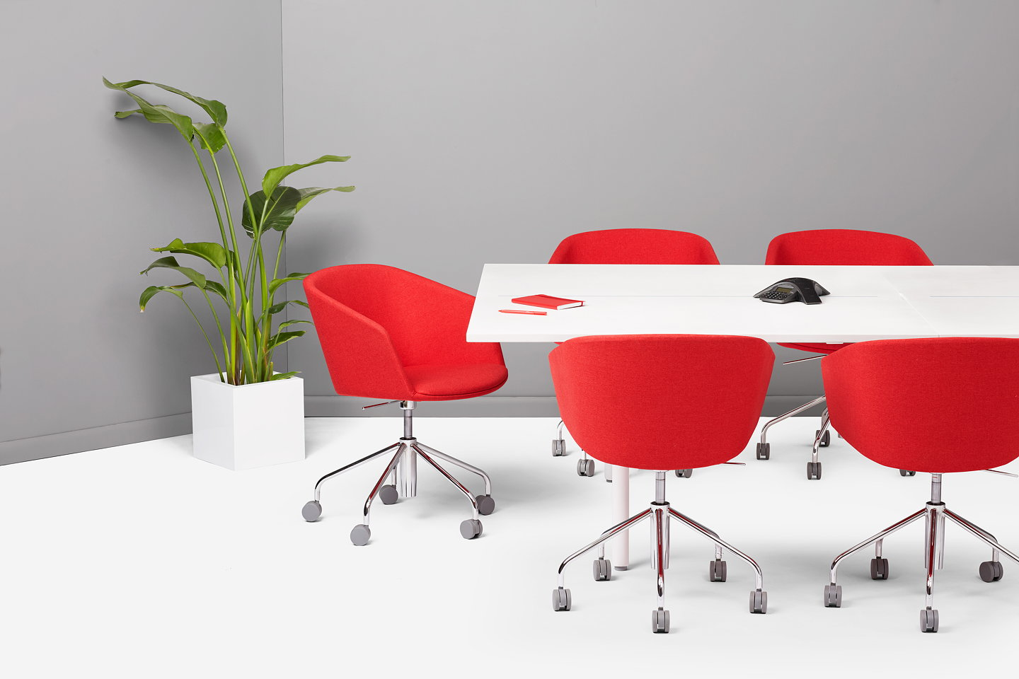 Poppins Fresh Take On The New Conference Room Table - Red conference table