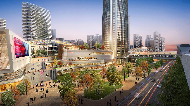 Shenzhen Metro Changzhen Depot TOD Master Plan by Woods