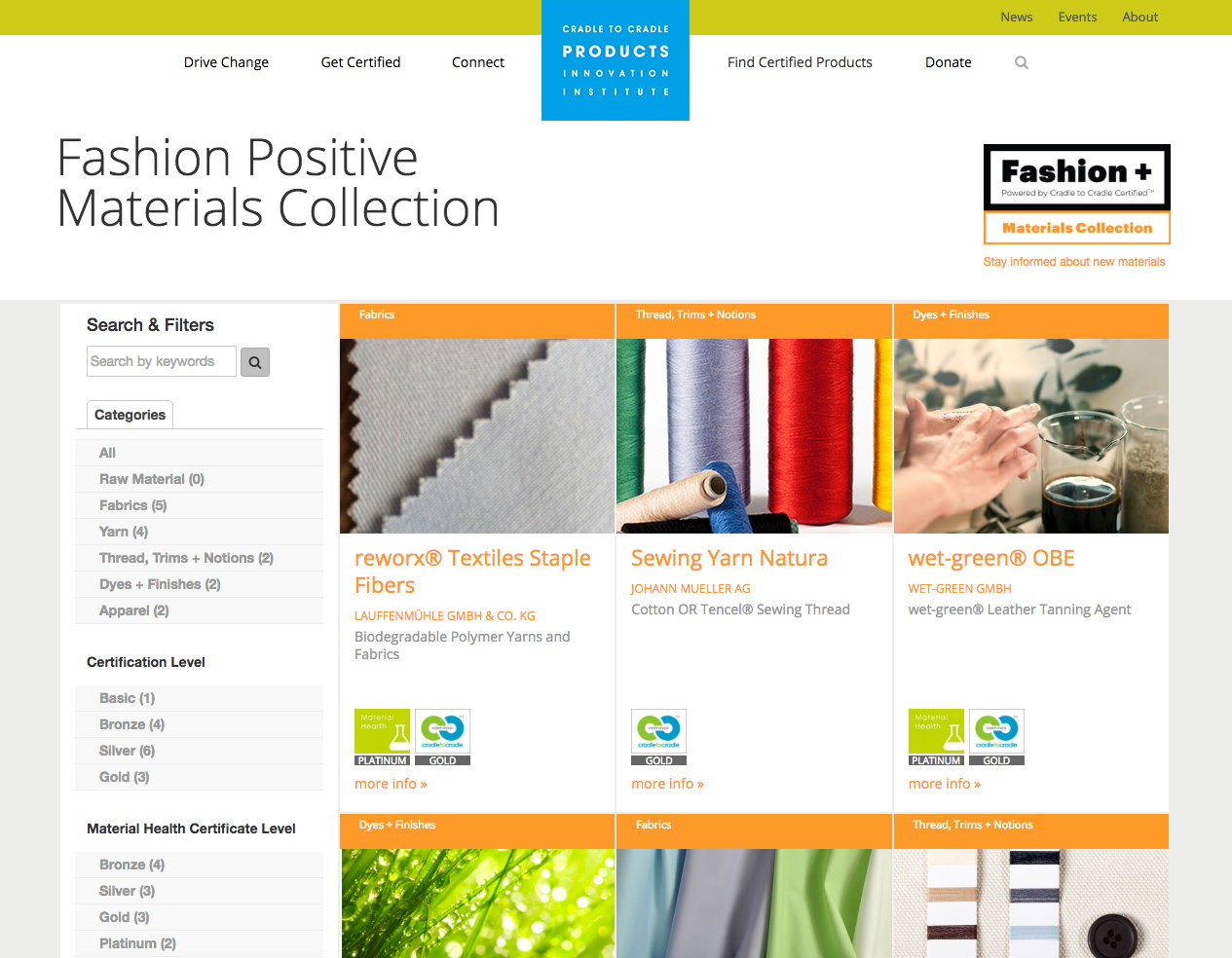 Fashion Positive Materials Collection