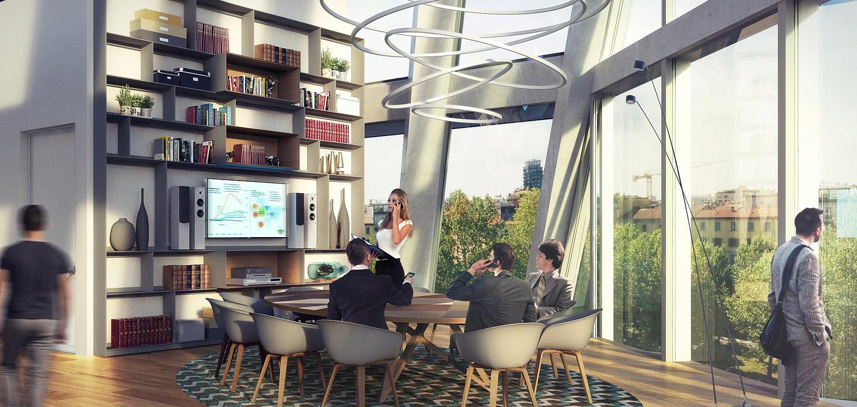 Degw designs interiors for new microsoft italia hq for Design render milano