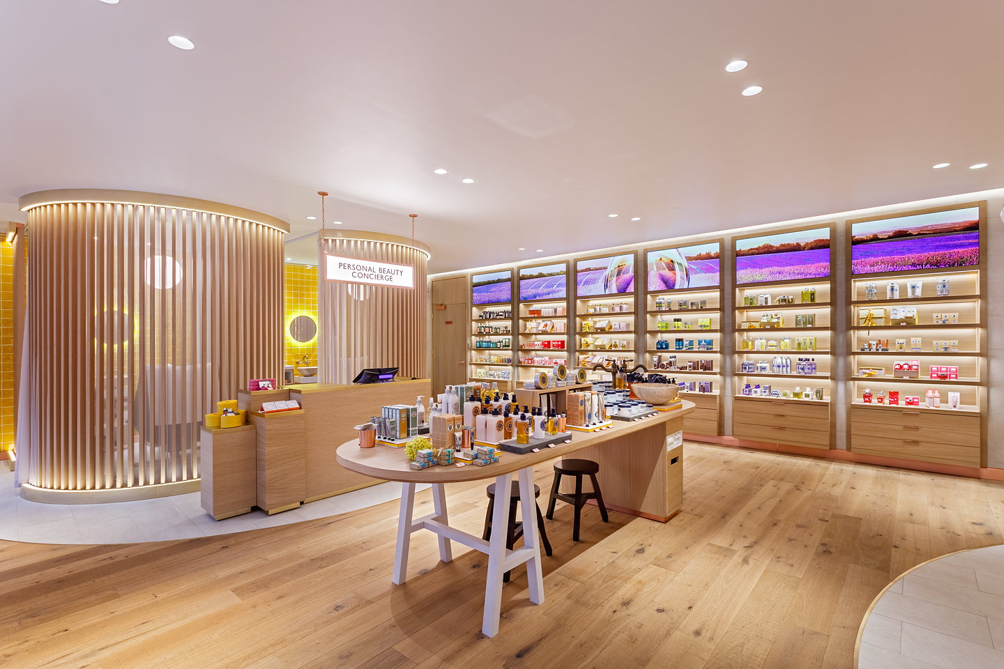 l 39 occitane 39 s first london flagship store by futurebrand uxus. Black Bedroom Furniture Sets. Home Design Ideas