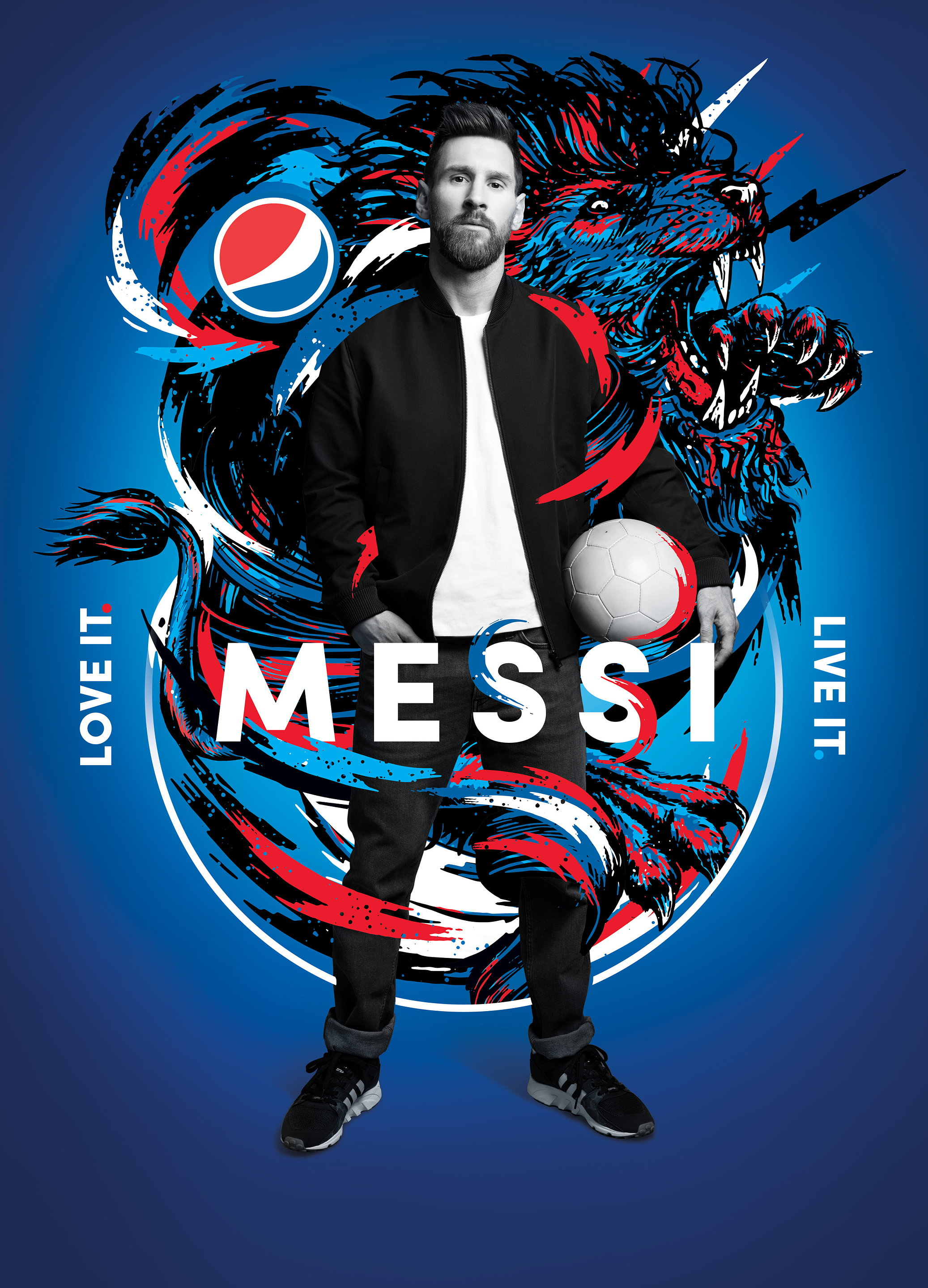 Messi x Danny Clinch x DIYE