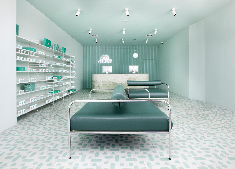sergio mannino studio designs medly pharmacy in brooklyn