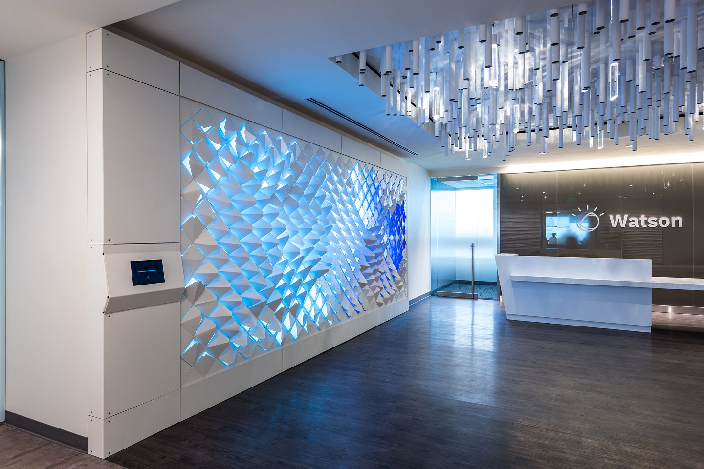 Softlab Creates Interactive Wall Installation For Ibm