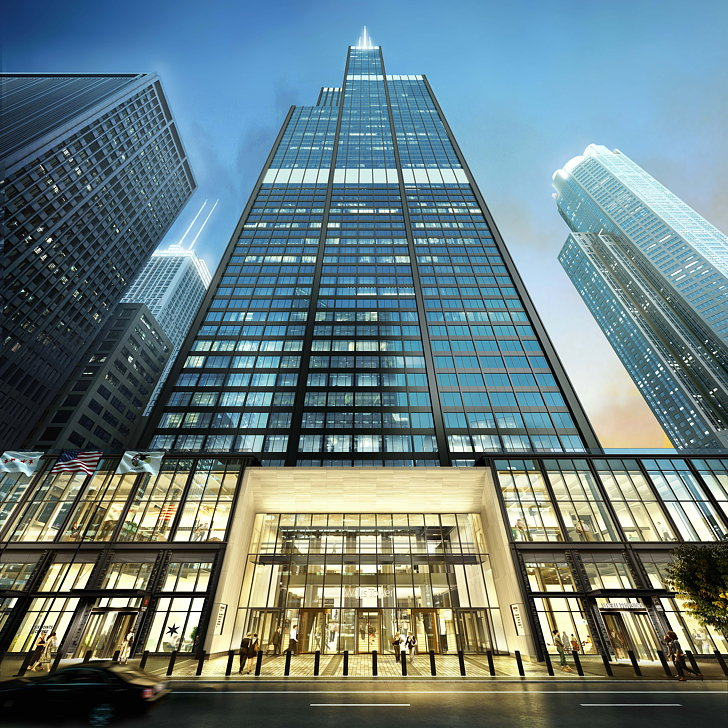 SkB Architects Designs Exterior Facade For Catalog At Willis Tower Cool Interior Design Firms In Chicago Exterior