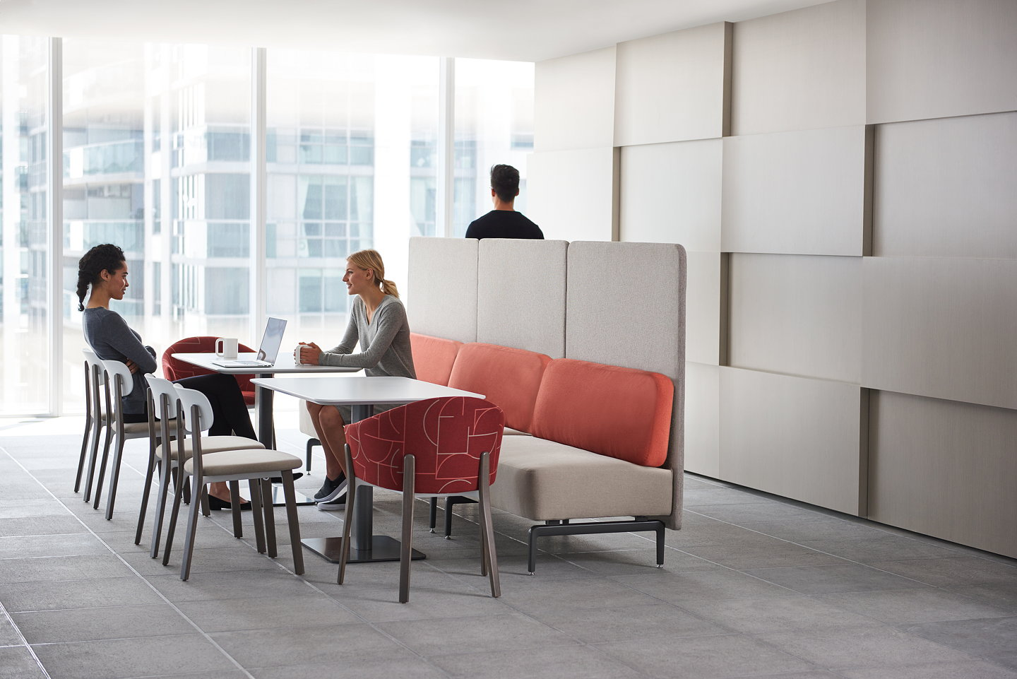 Teknion Introduces New Banqs Banquette Seating For Mixed