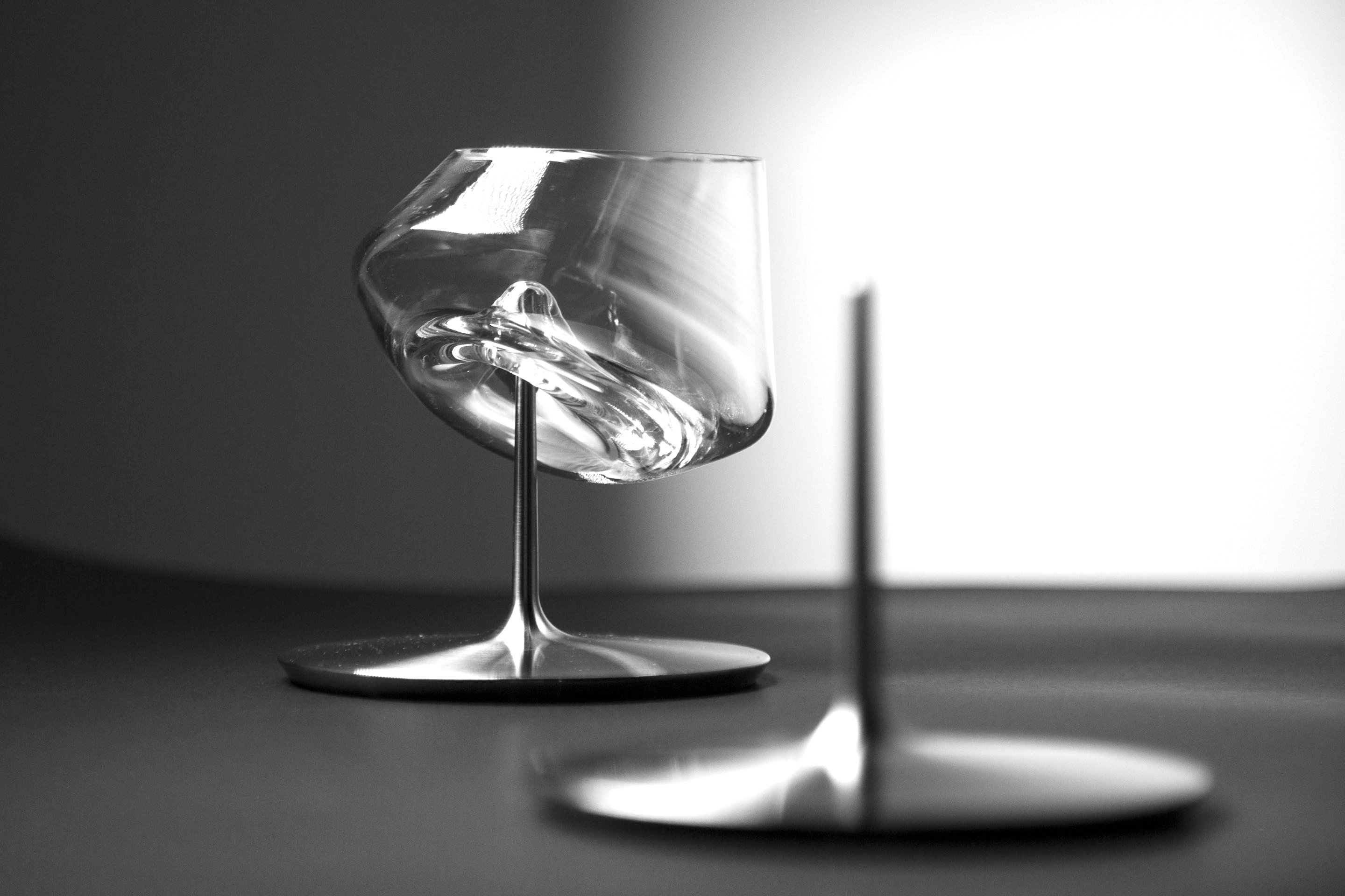 Untippable Martini Glass by Andres Boraita