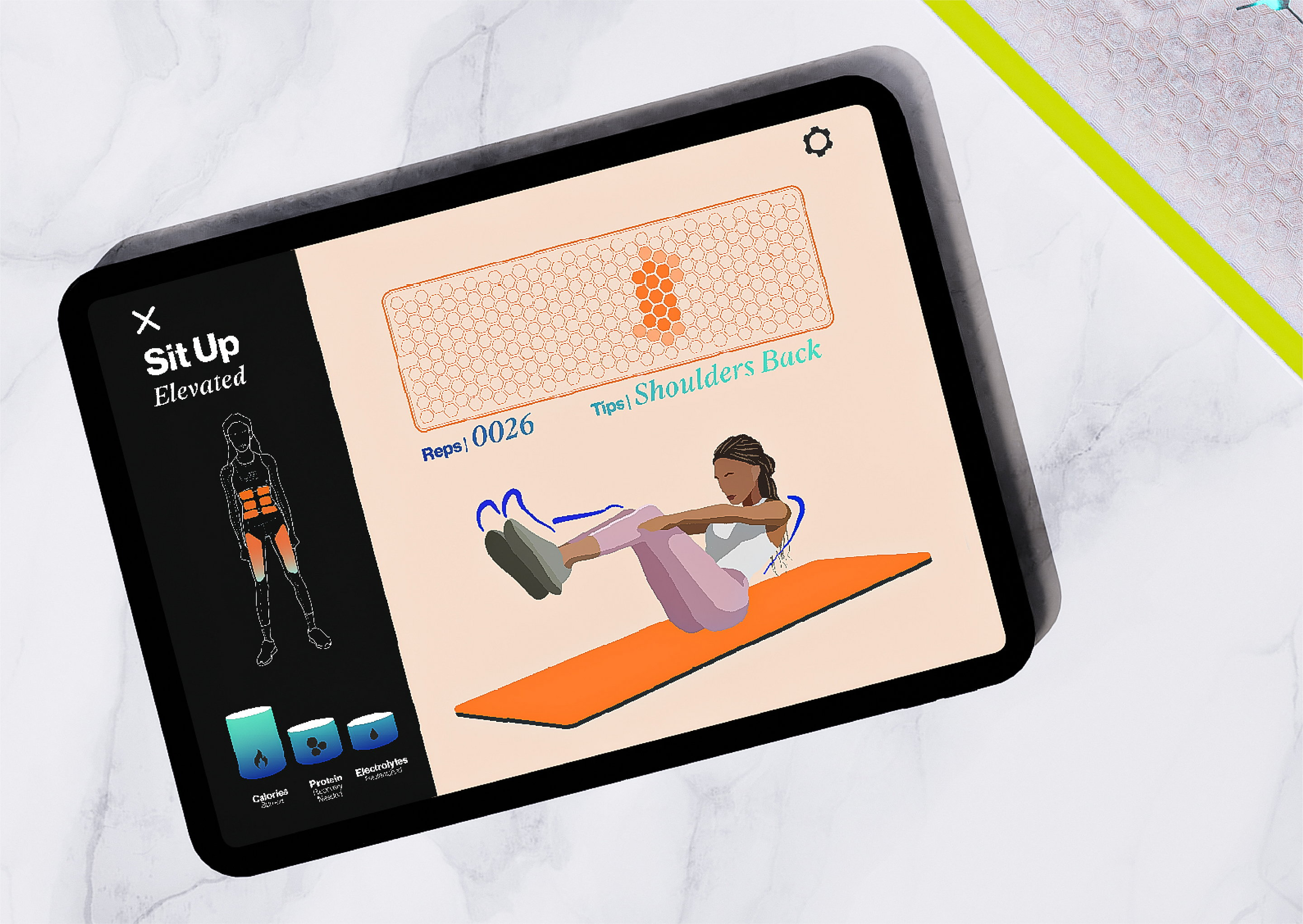 Smart Gym Mat Concept by Seymourpowell
