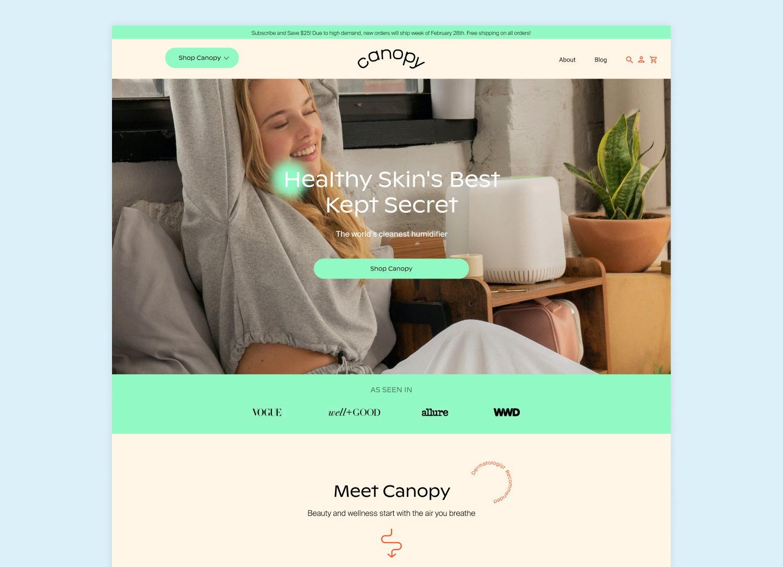 SMAKK Creates Identity for Canopy Humidifier