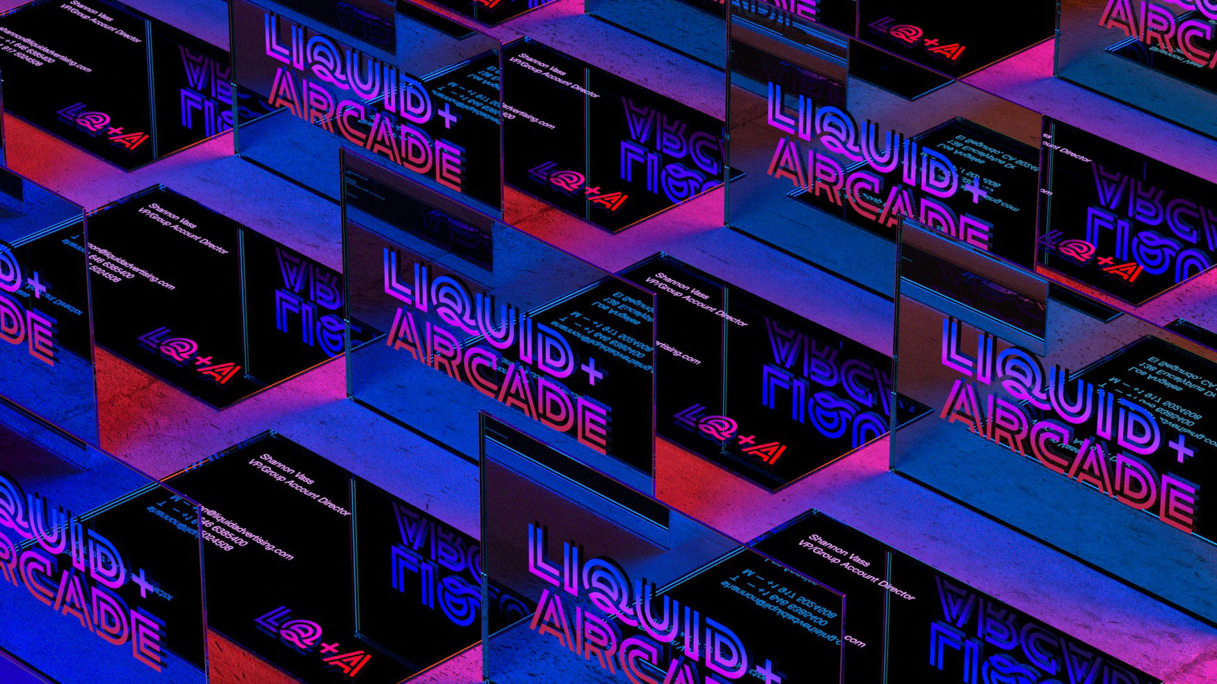 Sunday Afternoon Brings Early Video Gaming Vibe to Rebrand for Liquid+Arcade