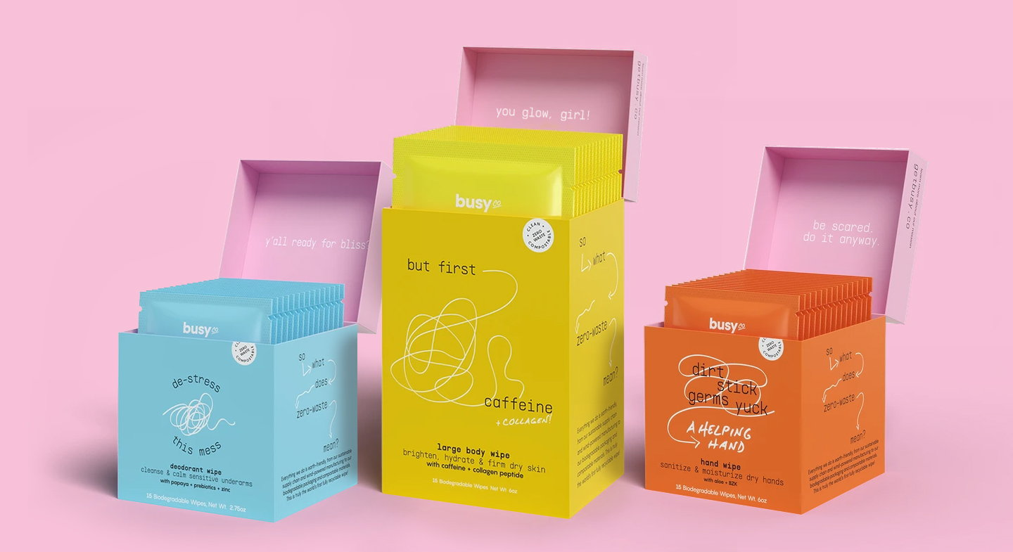 Sustainability Takes Center Stage with SMAKK's Identity for Biodegradable Wipes Innovator Busy Co.