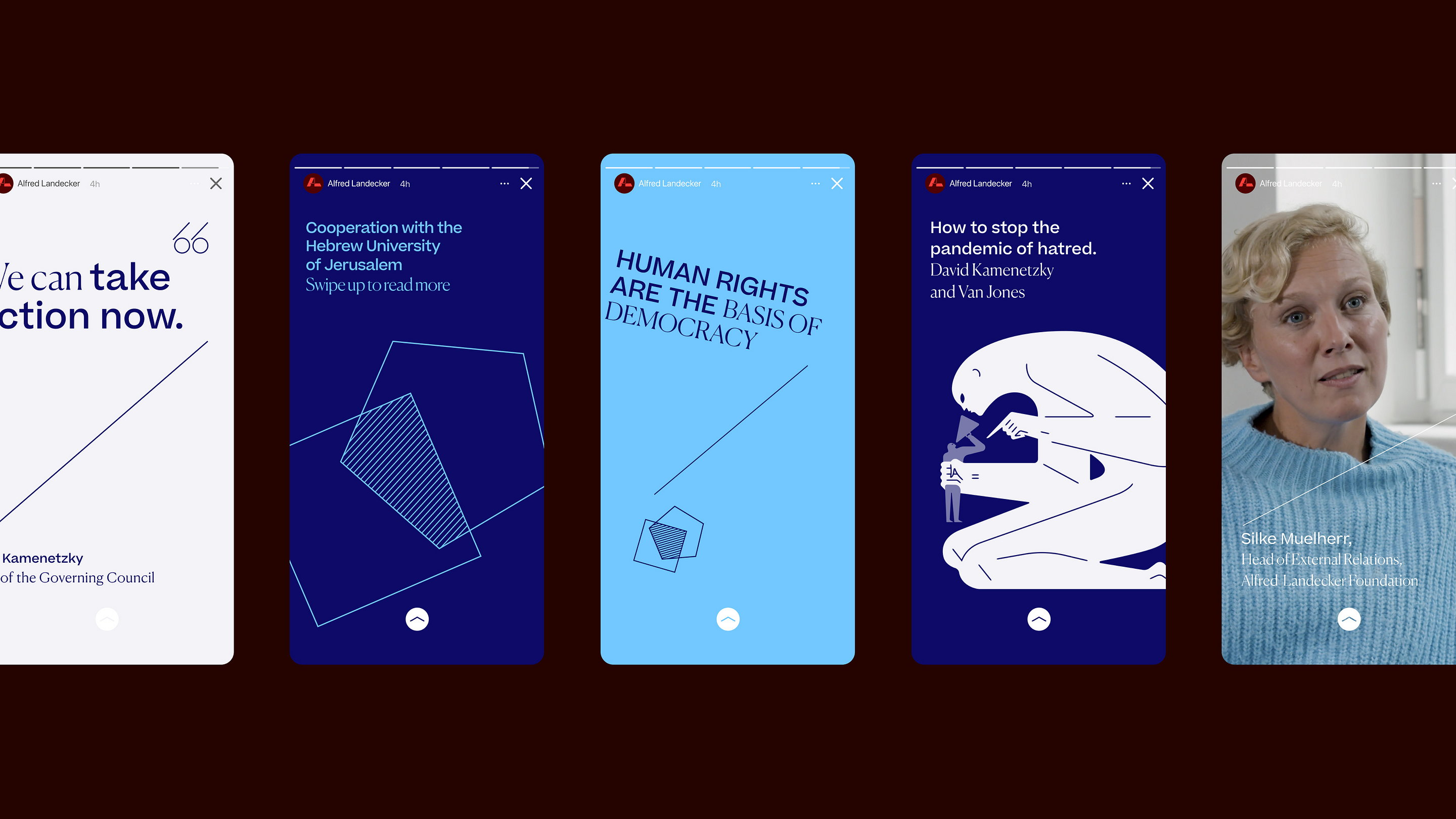Output Designs Visual Identity and Website for Alfred Landecker Foundation