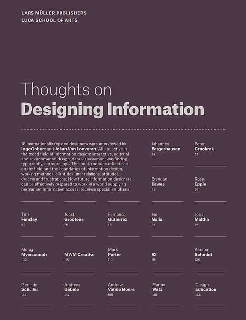 Thoughts on Designing Information