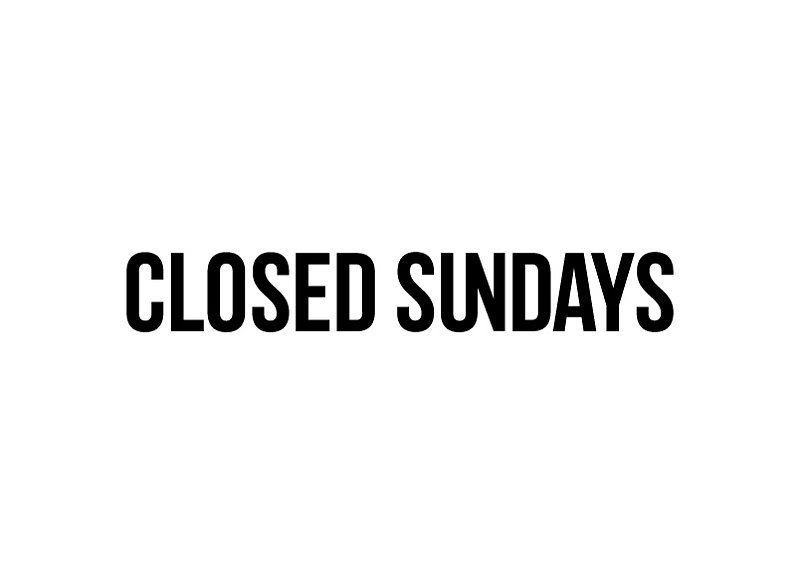 Closed Sundays