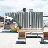 Woods Bagot's Curvy Kiosks Arrive at the New South Street Seaport