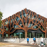 Cepezed Designs Graafschap College Doetinchem with Corten Tree Façade