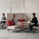 Teknion Introduces New Banqs Banquette Seating for Mixed-Use Spaces