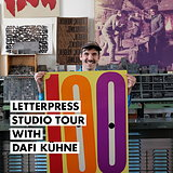 Letterpress Studio Tour with Dafi Kühne