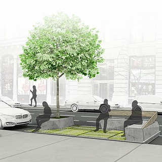 Public Square by FXFOWLE and Sam Schwartz Engineering Wins the Driverless Future Challenge