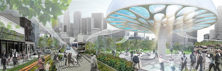 Winners of Los Angeles Cleantech Corridor and Green District Competition