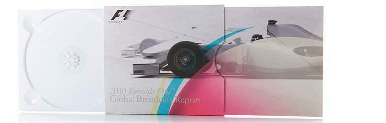 Burgopak Designs Packaging for the Formula One 2010 Global Broadcast Report