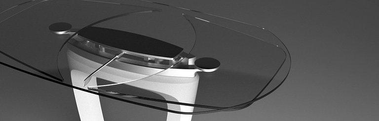 Orbital by Pininfarina - Extendable Table Made of Transparent Glass